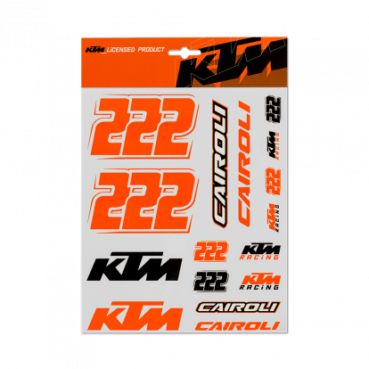 Cairoli large stickers set